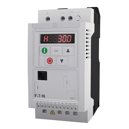 .5HP 230V 1PH In / 230 3PH Out, IP20 DC1 VFD