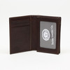 Tumbled Glove Leather Gusseted Card Case - Brown