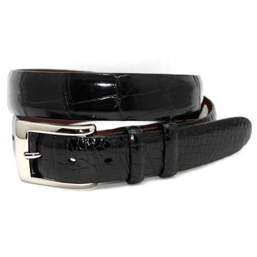 Genuine American Alligator Belt - Black