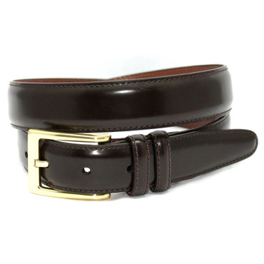 Brown Antigua Leather Belt with brass buckle