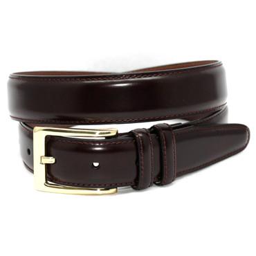 Burgundy Antigua Leather Belt with brass buckle