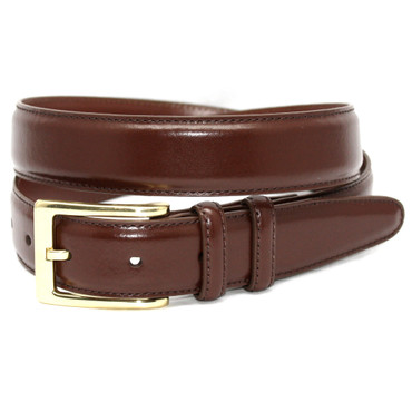 Tan Antigua Leather Belt with brass buckle