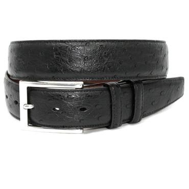 Genuine South African Ostrich Belt - Black