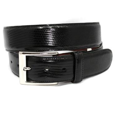 X-LONG Genuine Lizard Belt - Black