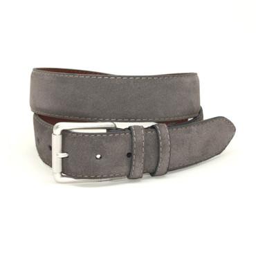 Slate (grey) European Suede Calfskin Casual Belt