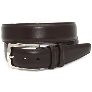 Italian Burnished Calfskin Belt - Brown