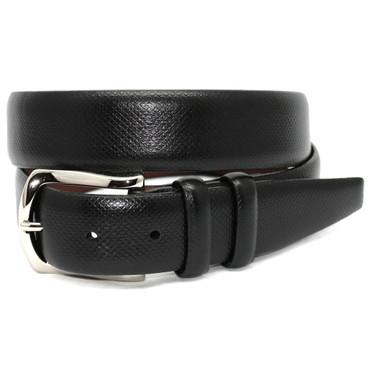 Italian Bulgaro Calfskin Belt - Black