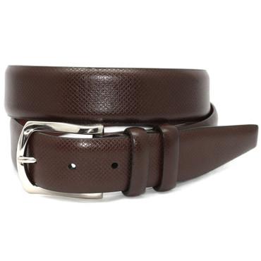 Italian Bulgaro Calfskin Belt - Brown