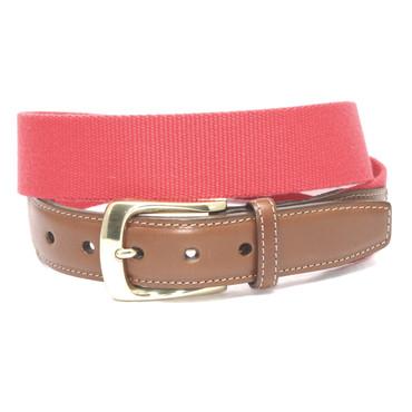European Ribbed Surcingle Belt - Red