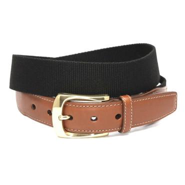 European Ribbed Surcingle Belt - Black