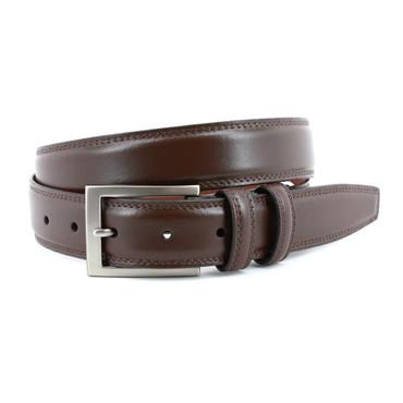 Italian Aniline Leather Belt in Brown