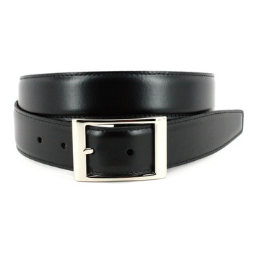 Italian Aniline Leather - Reversible Belt Black to Brown