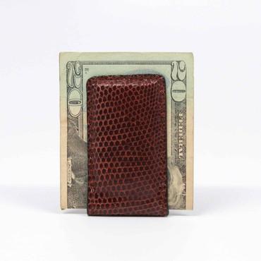 Lizard Magnetic Money Clip - Brown
