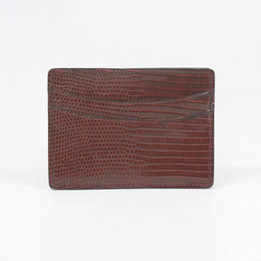 Genuine Lizard Cardcase - Cognac