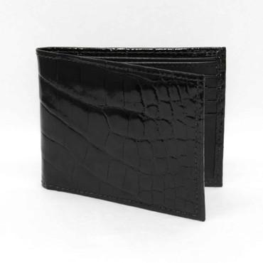Genuine Alligator Billfold Wallet - Black
