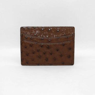 Genuine Ostrich Cardcase - Brown