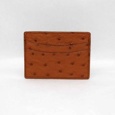 Genuine Ostrich Cardcase - Saddle