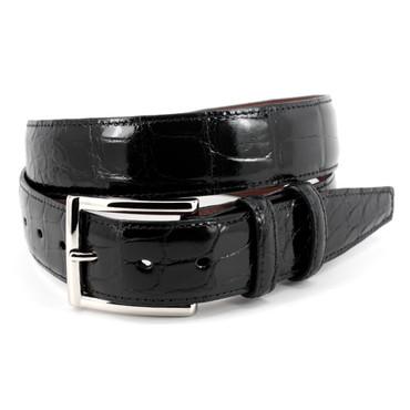 Genuine American Alligator Belt - Black-1