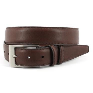 Soft Deertan Glove Leather Belt in Chestnut Brown