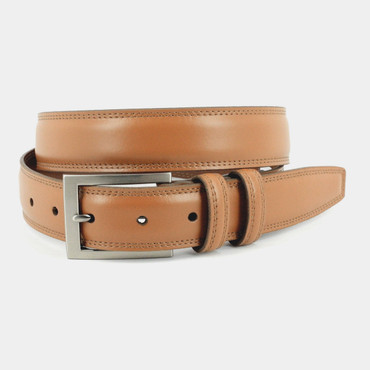 Italian Aniline Leather Belt in Tan