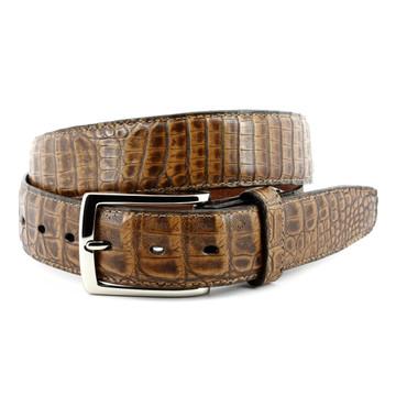 Antique Pecan Genuine South American Caiman Belt