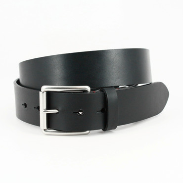 Hand Burnished Bridle Leather - Black