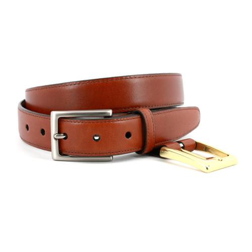 Glazed Kipskin Double Buckle Option Belt - Honey