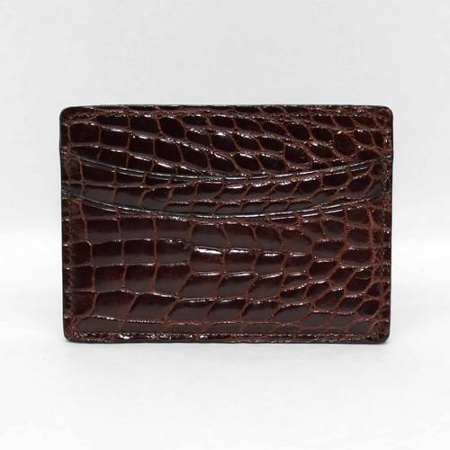 Genuine Alligator Cardcase - Brown