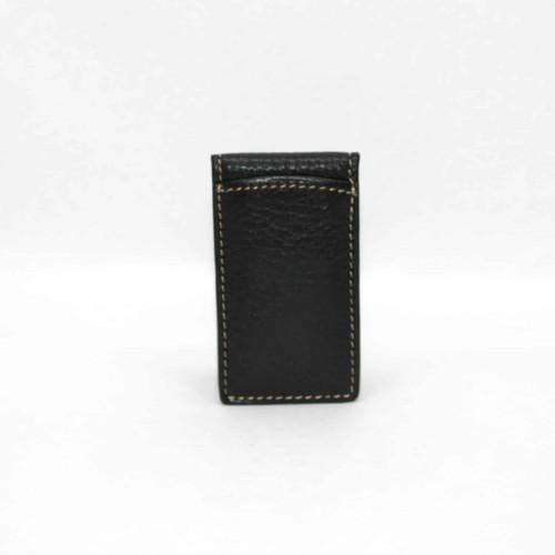 Tumbled Glove Magnetic Money Clip - Black