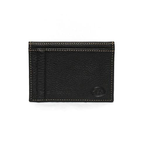 Tumbled Glove Leather ID/Card Case - Black