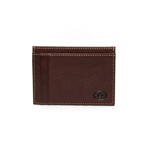 Tumbled Glove Leather ID/Card Case - Brown