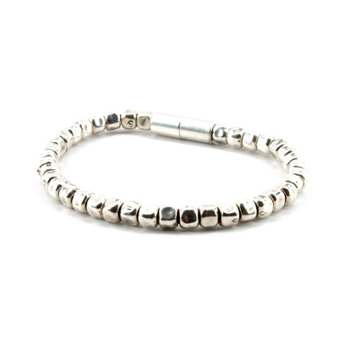 Sterling Silver Plate Beaded Bracelet