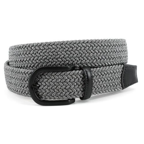 Italian Braided Melange Rayon Elastic- Grey