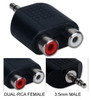 3.5mm Mini-Stereo Male to Dual RCA Female Speaker Adapter