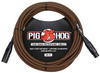 Pig Hog PHM20ORG High Performance Black & Orange Woven XLR Microphone Cable, 20 ft.