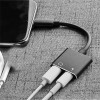 Black Headphone Adapter for iPhone, 2 in 1 Lightning to 3.5mm AUX Audio + Charger