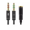 3.5 TRRS Female to 3.5mm TRS Microphone/Audio Adapter