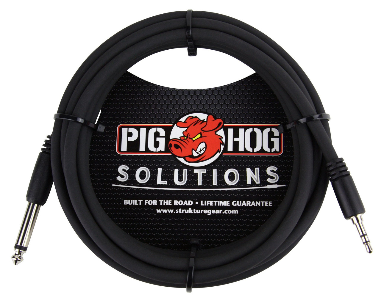 """Pig Hog PX-35T4M05 3.5mm TRS Male to 1/4"""" Mono Male 10ft"""