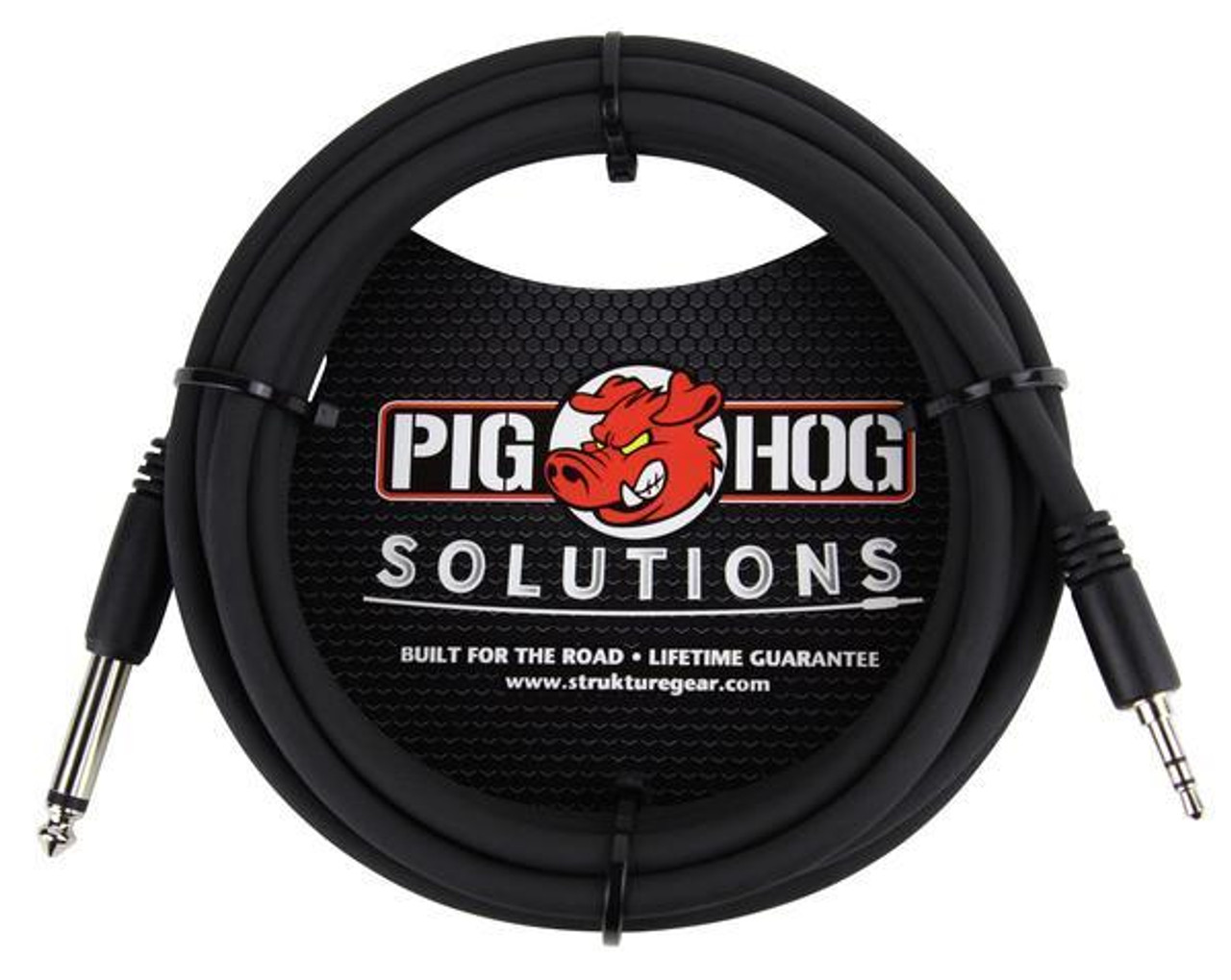 """Pig Hog PX-35T4M05 3.5mm TRS Male to 1/4"""" Mono Male 5ft"""