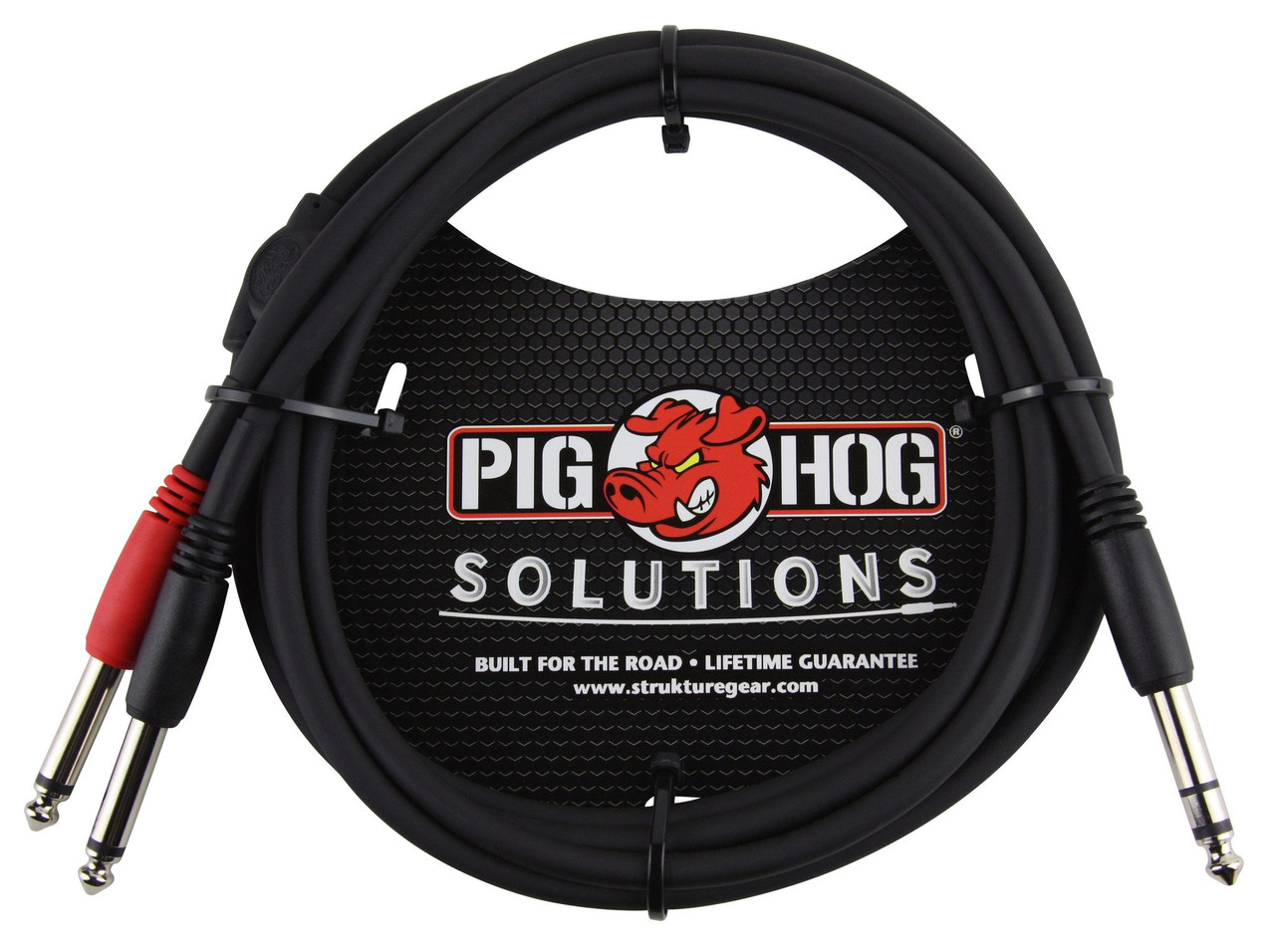 """Pig Hog PYIC06 6ft  1/4"""" TRS Male to Dual 1/4"""" TS Mono Male Cable"""