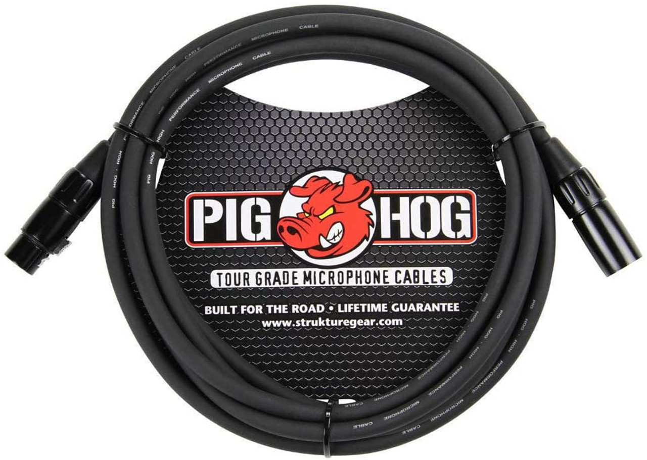 Pig Hog PHM10 10ft XLR 8mm Microphone Cable