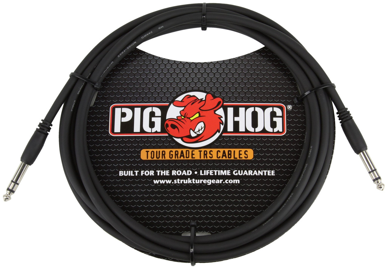 "Pig Hog Cable - 1/4"" TRS, 15 ft"