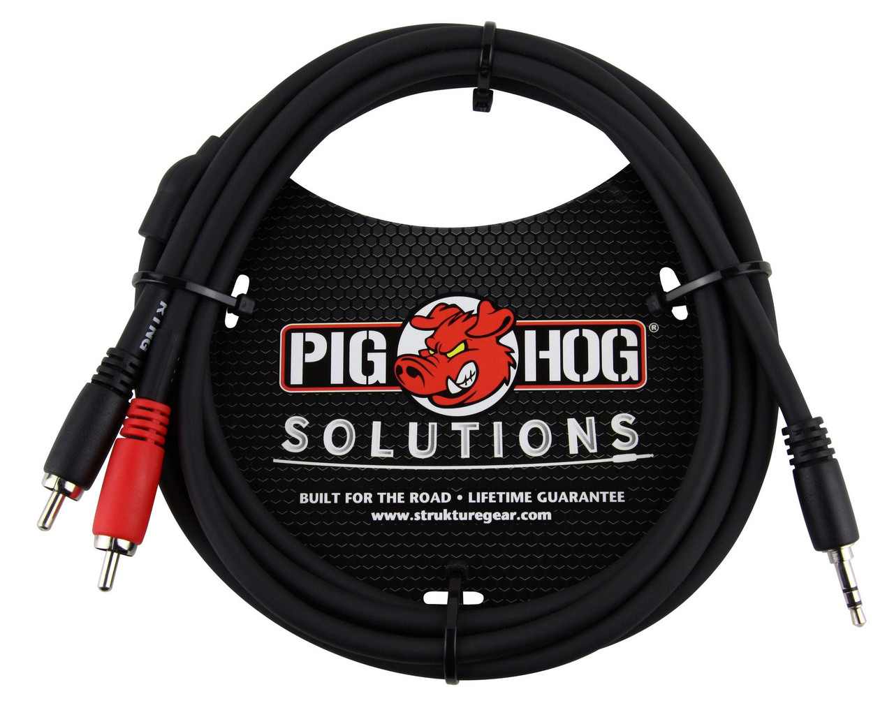 Pig Hog PB-S3R06 6ft TRS Stereo 3.5mm Male to Dual RCA Male
