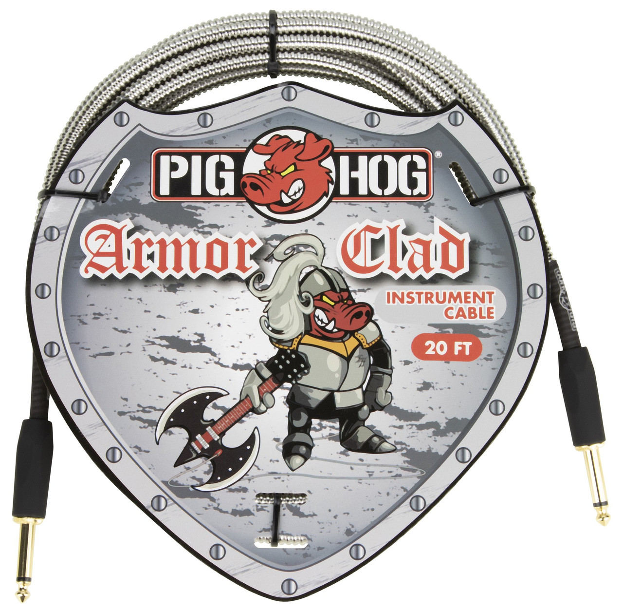 20ft Pig Hog PHAC-20 Armor Clad 1/4 Inch Instrument Cable