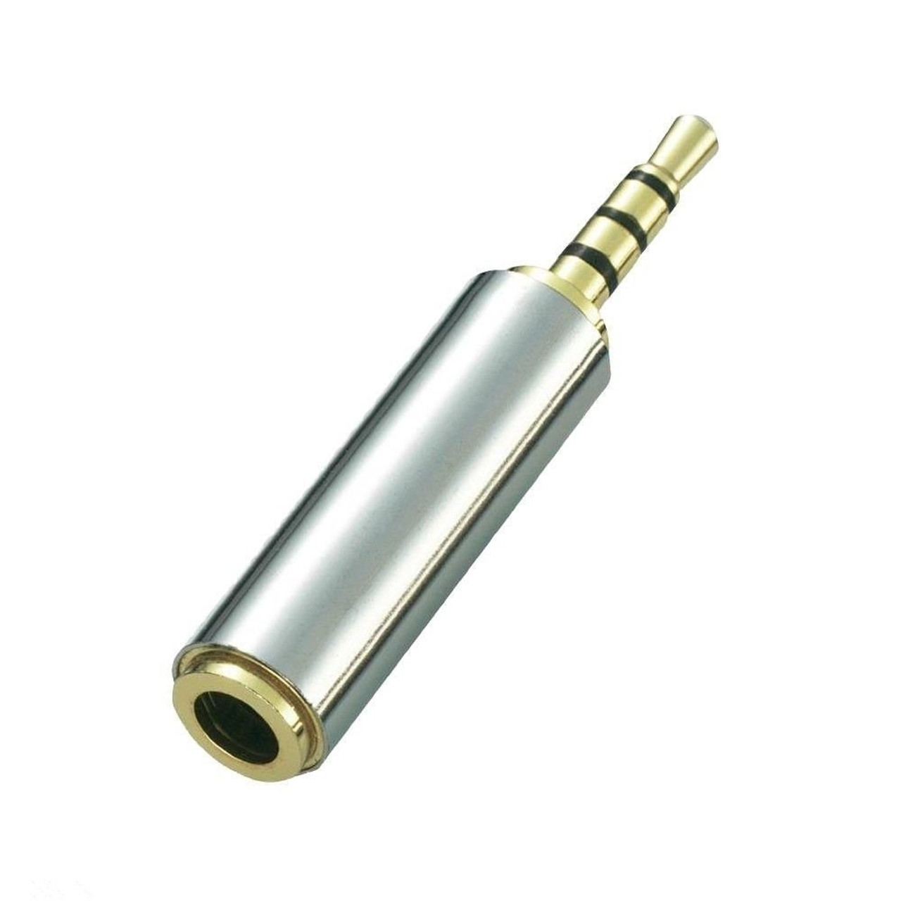 2.5mm Male to 3.5mm Female 3-Ring Audio Adapter