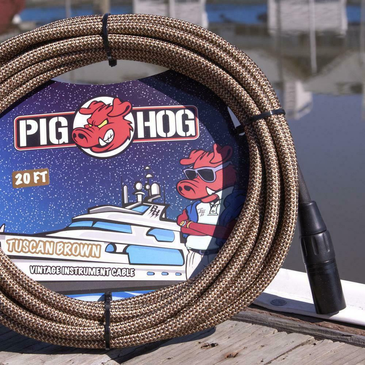 Pig Hog PHM20TBR Tuscan Brown Woven High Performance XLR Microphone Cable, 20 Ft