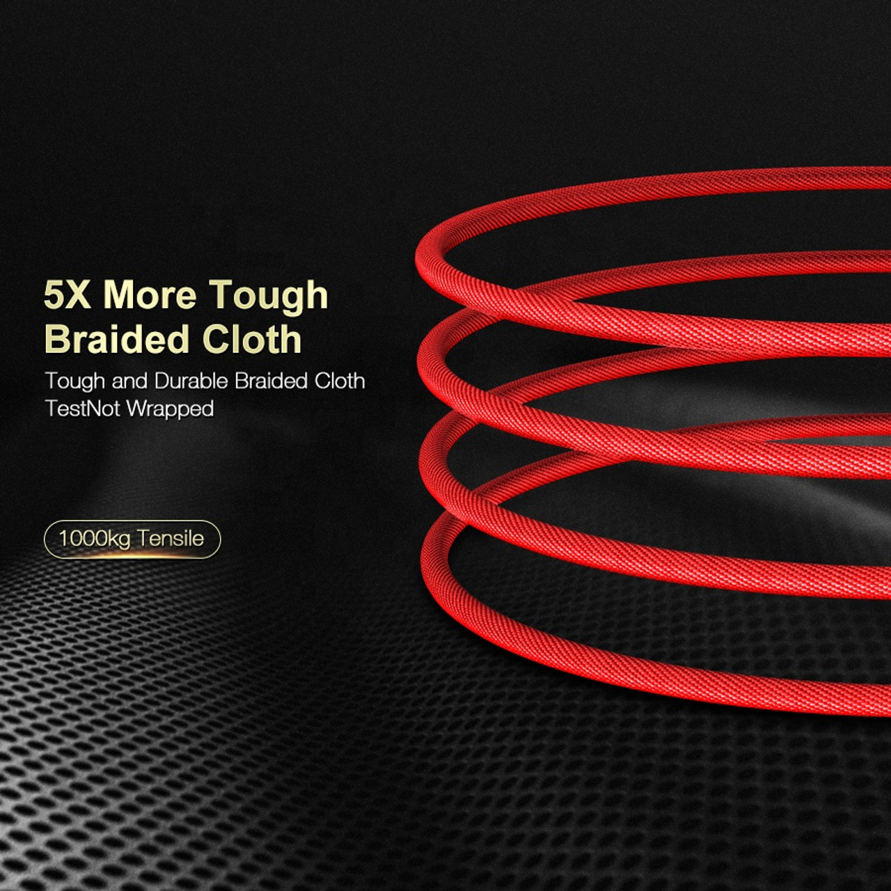 Flexible Red 3 Ft  Lightning to USB-A Charging Cable