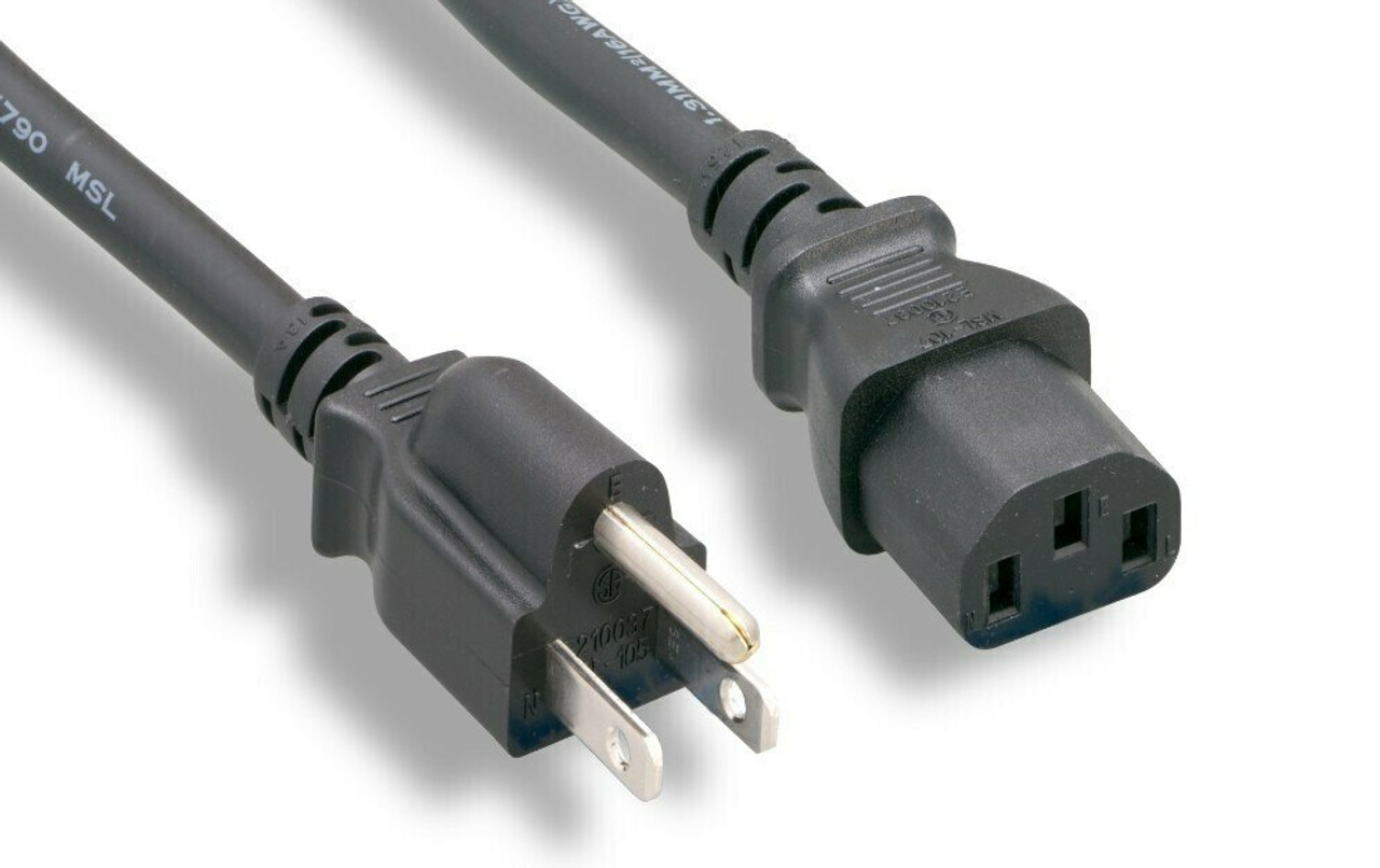 6Ft Computer Power Cord 18/3