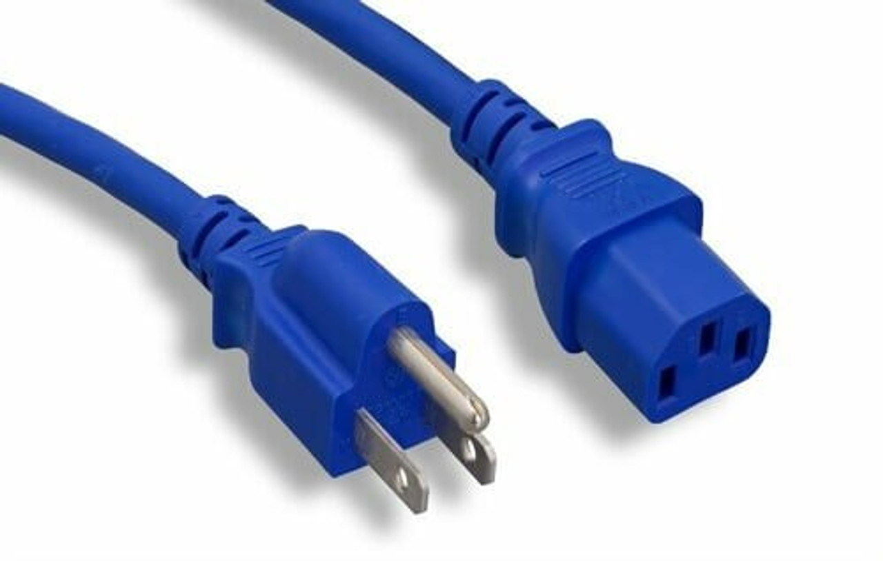 10Ft Computer Power Cord 18/3 Blue