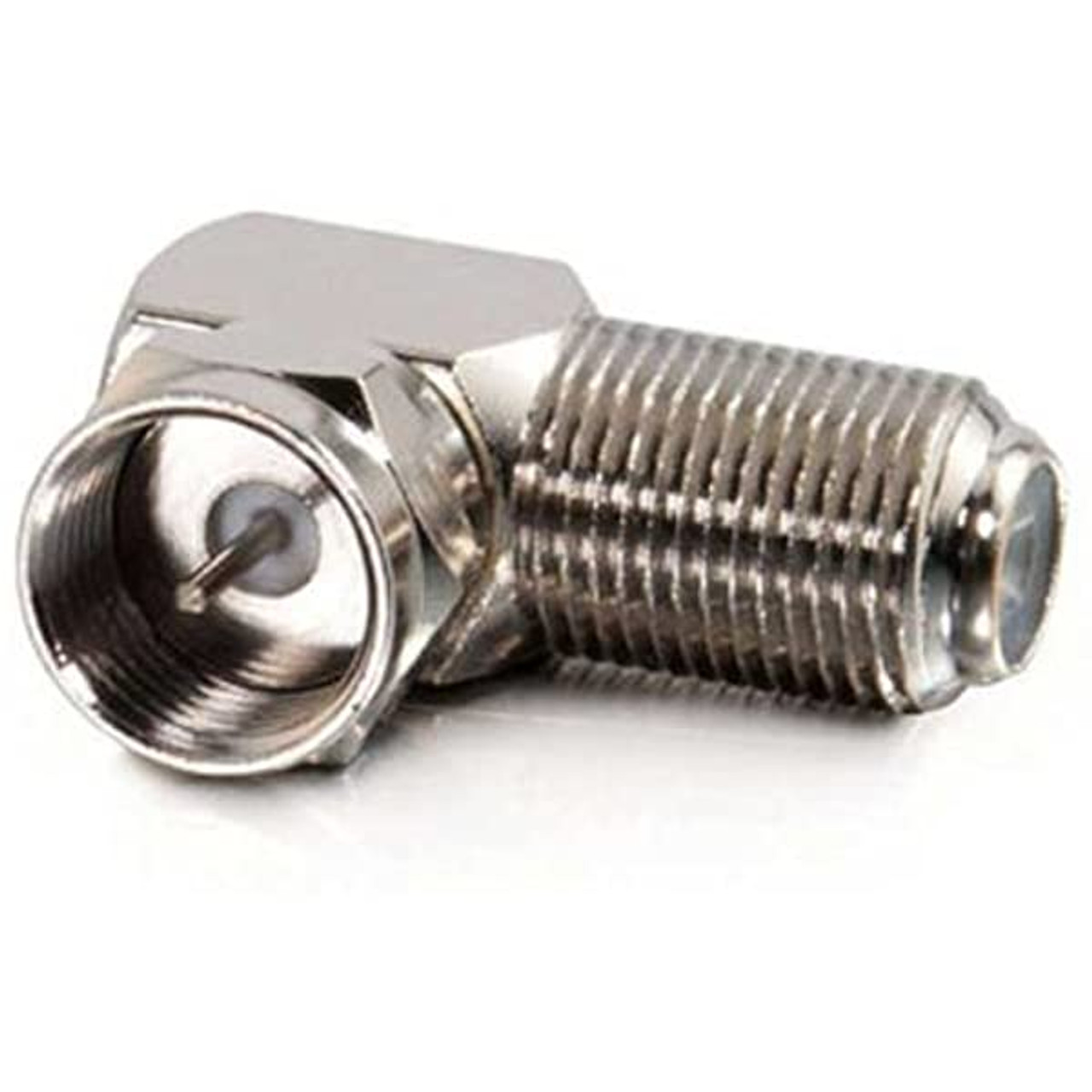 F-Type Right Angle Screw-on Plug Adapter